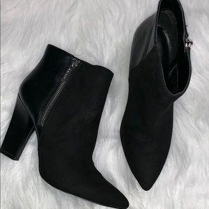 Nine West • blushing block heel booties